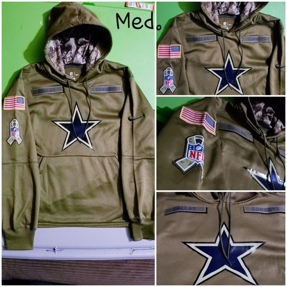 new style 1b6d3 bb10e Dallas Cowboys Nike NFL Salute to Service hoodie Boutique